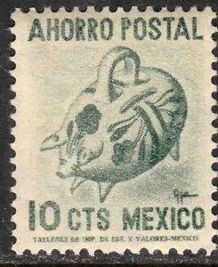 MEXICO 10¢ POSTAL SAVINGS PIG LABEL, 1950 MINT, NH. F-VF.