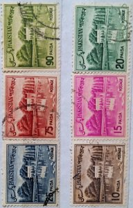 Pakistan:1962:(20% reduced price)Motives:Set of 6 Single Stamps: Used