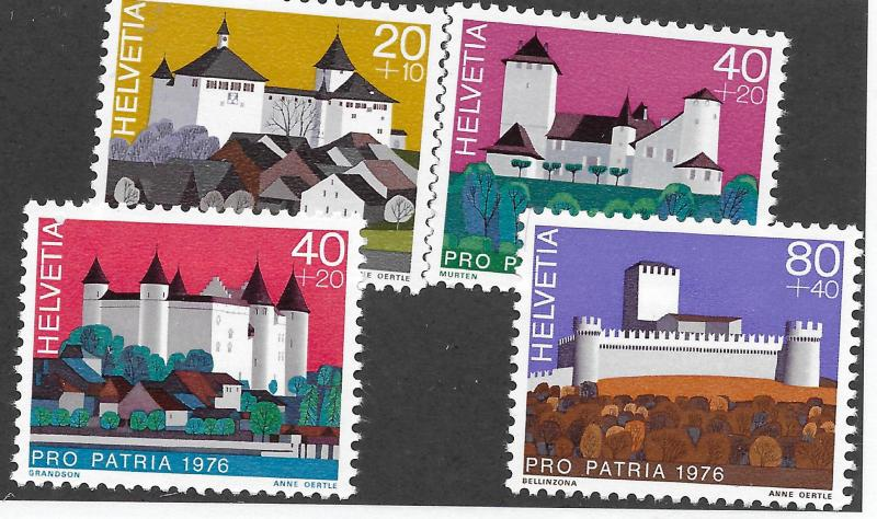 SWITZERLAND B439-B442 MNH C/SET 1976 ISSUE