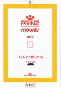 PRINZ CLEAR MOUNTS 174X185 (5) RETAIL PRICE $10.50