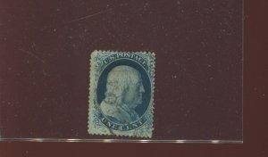 Scott 20 Franklin Used Stamp Plate 4 Pos. 3L4 w/Doporto Cert (Stock 20-D12)