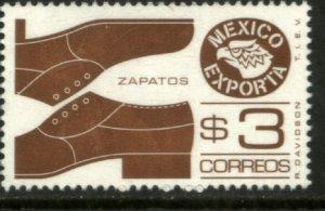 MEXICO EXPORTA 1118, $3P. SHOES BROWN UNWMKD Paper 1 MINT, NH. VF.