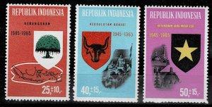 Indonesia 1965/6,Mi.#492 - 494, P37 MNH, Nationalism, Democracy, Belief in God