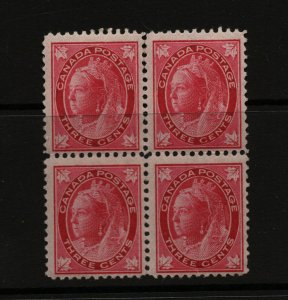 Canada #69 Mint Fine Never Hinged Block