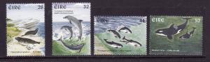 Ireland-Sc#1049-52-unused NH set-Marine Mammals-1997-