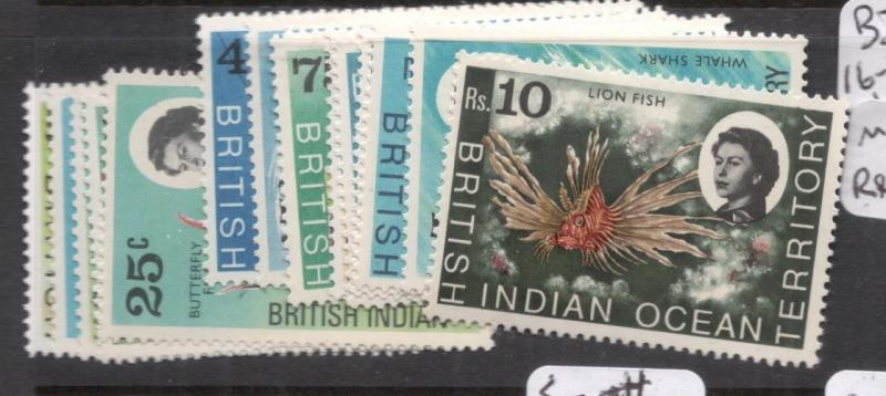 British Indian Ocean Territory SG 16-30, 15 Values MNH (8dhy)