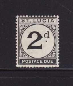 St Lucia J4 MH Postage Due Stamp
