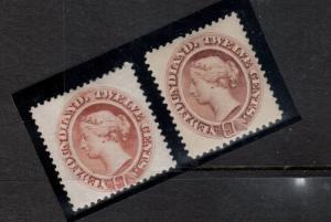 Newfoundland #28 - #29 Very Fine Mint Original Gum Hinged Duo