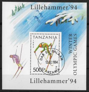 Tanzania - SC# 1208 - CTO - SCV$2.50 - Olympics - Souvenir Sheet