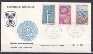 Gabon, Scott cat. 213-215. Winter Olympic Games issue. First day cover.