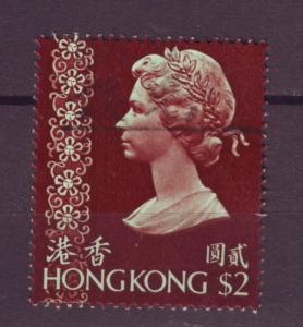 J6414 JL stamps 1973 hong kong 2$ queen used #285