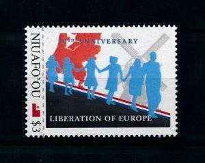 [101653] Tonga Niafo'ou 2012 World War II liberation of Europe windmill  MNH