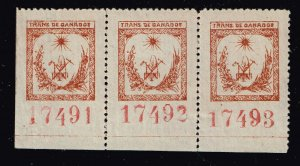Philippines Stamp Trans de Ganados Cattle Stamp 2MNH/1LH/OG STRIP OF 3  RARE