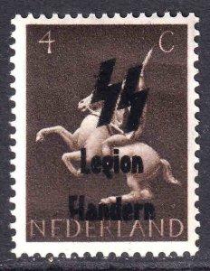 NETHERLANDS 250 LEGION FLANDERN OVERPRINT OG NH U/M VF BEAUTIFUL GUM