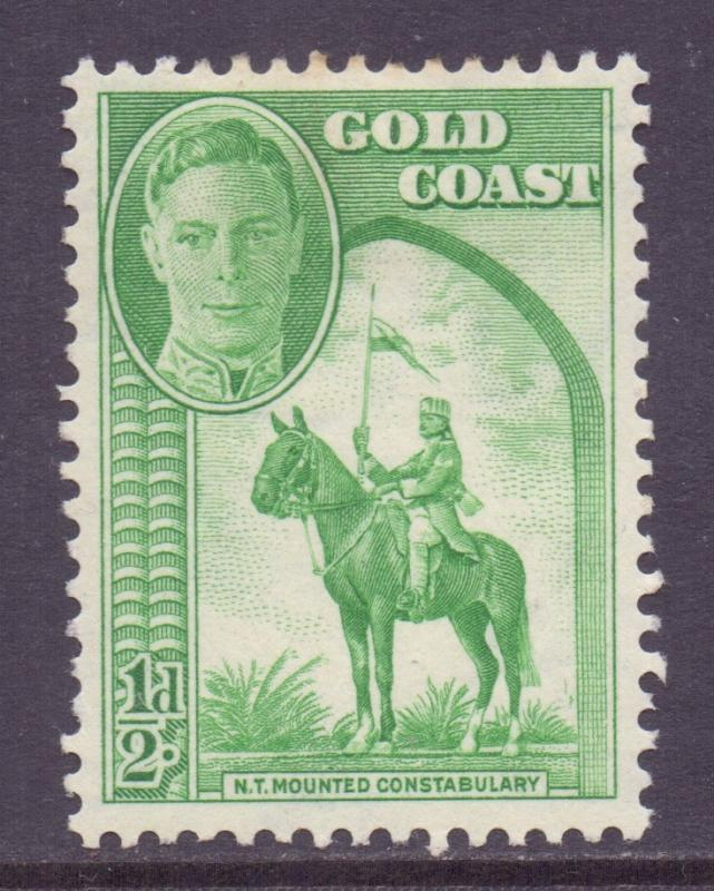 Gold Coast Scott 130 - SG135, 1948 George VI 1/2d MH*