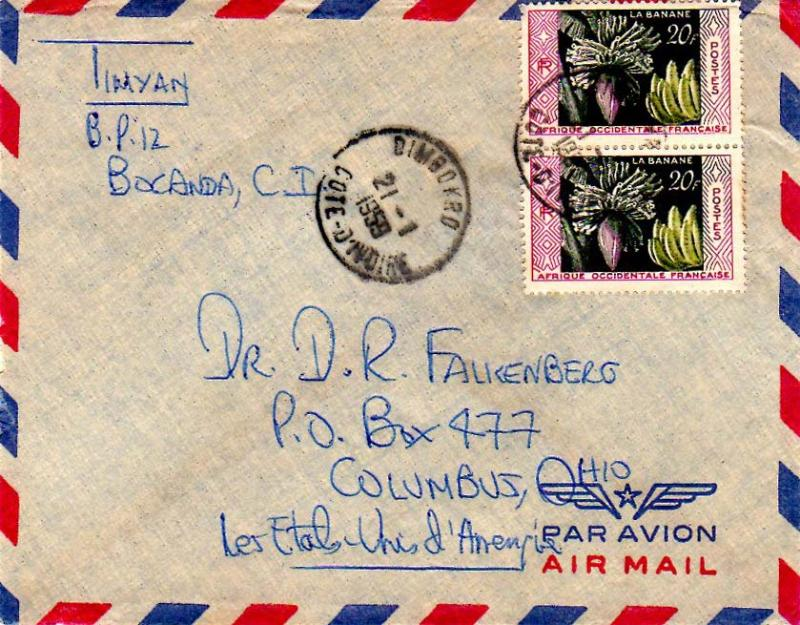 French West Africa 1959 Postal History