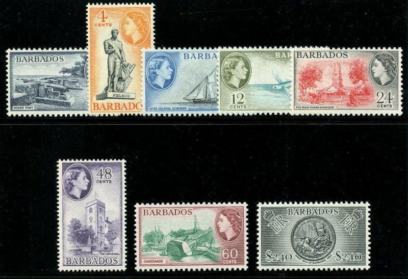 Barbados 1964 QEII set complete superb MNH. SG 312-319. Sc 257-264.