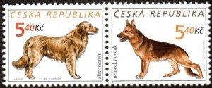 Czech Republic 3151 - Mint-NH - 5.40k Dogs (Pair) (2001) (cv $1.25)