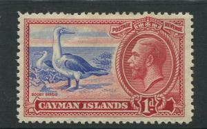 Cayman Islands -Scott 87 - KGV Definitive Issue -1935- MNG -Single 1d Stamp