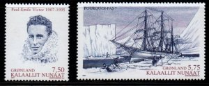 Greenland Sc 505-6 2007 Victor Explorer stamp set mint NH