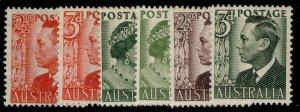 AUSTRALIA GVI SG234-237d, complete set, M MINT.