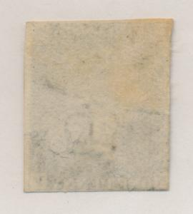 Great Britain Stamp Scott #1 Penny Black, Mint/Unused, Two Good Margins, Nice...