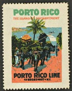 1920s Porto Rico Steamship Co ( US Poster Stamp )