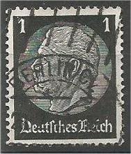 GERMANY, 1933, used 1pf, Pres.von Hindenburg Scott 415