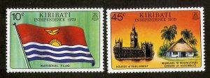 KIRIBATI 325-6 MNH BIN .50 FLAGS