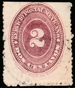 MEXICO 213, 2c LARGE NUMERAL, F-VF USED. (225)