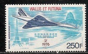 Wallis and Futuna Islands C69 1976 Concorde single MNH