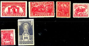 U.S. #627-629,643-645 MINT MIXED CONDITION
