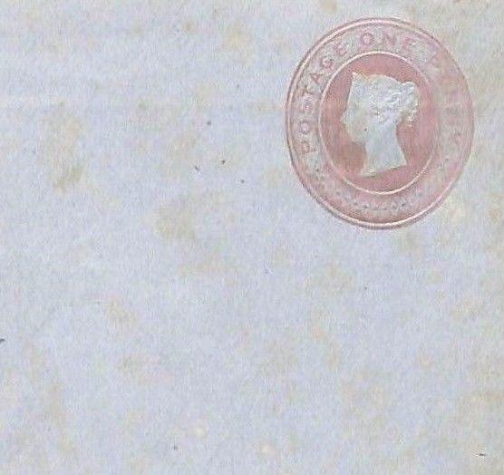 EE272 GB QV One Penny Postal Stationery {samwells-covers}