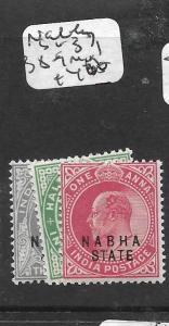 INDIA NABHA (P2701B) KE SG 37, 38-9  MOG