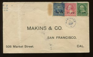 Guam Scott 1,2,5 Rare Cover Violet Oval of Dots and Star w/Matching Marianas CCL