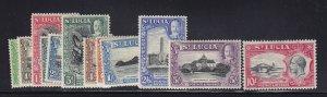 St Lucia Scott # 95 - 106 VF OG lightly hinged nice color cv $ 106 ! see pic !