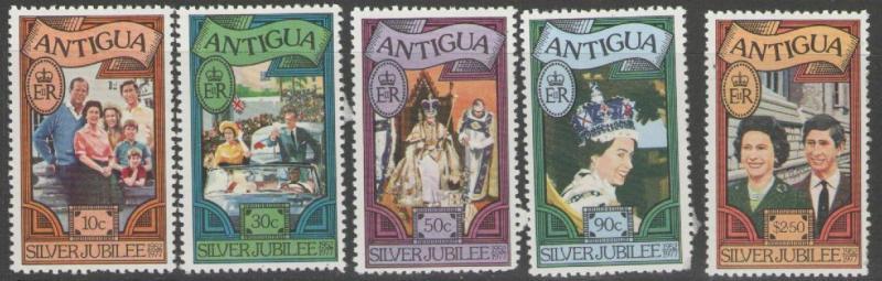 ANTIGUA SG526/30 1977 SILVER JUBILEE p11½x12 MNH