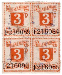 (I.B) Midland Railway : Prepaid Newspaper Parcel 3d