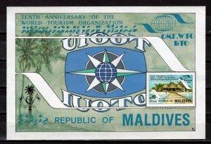 MALDIVES -  1985 The 10th Anniversary of World Tourism Organization   M2164