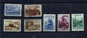 RUSSIA - 1941 SOVIET INDUSTRIES - SCOTT 817 TO 823 - USED