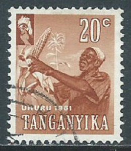 Tanganyika, Sc #48, 20c Used