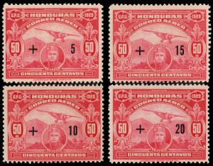 Honduras Scott CB1-CB4 Mint never hinged.