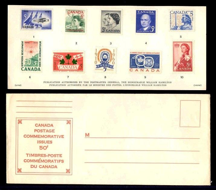Canada 1960 Year Issues Souvenir Card #1