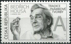 Czech Republic 2020. Bedřich Housa, Stamp Designer (MNH OG) Stamp