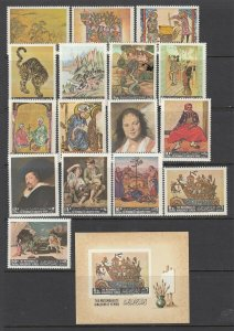 Yemen ART PAIONTINGS AND ARTISTS Set (Mint Never Hinged) Nice