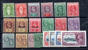 Virgin Islands early mint (MH) collection WS14893