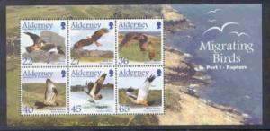 Alderney Sc 190a 2002 Migrating Birds stamp sheet mint NH