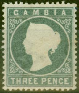 Gambia 1886 3d Slate-Grey SG28 Fine Lightly Mtd Mint