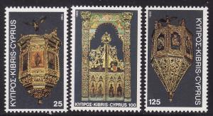 Cyprus #557-59, F-VF Mint NH ** Christmas