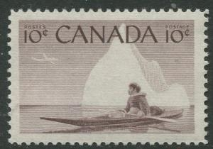 STAMP STATION PERTH Canada #351 Inuit in Canoe1955 MNH CV$0.40